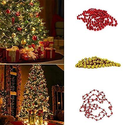 xmas garland decoration for home garland christmas tree christmas tree bead chain decorative present hanging chains - Garland For Christmas Tree