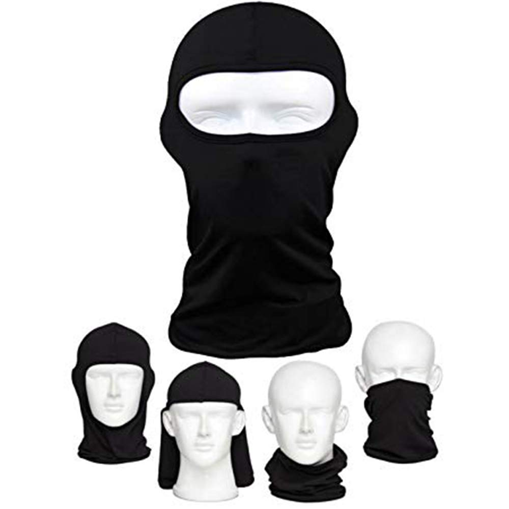 Máscara de bicicleta para al aire libre equitación tácticas pesca a prueba de polvo, máscara para casco de motocicleta frío, máscara esquí máscara marca negro 1 pack Amasawa