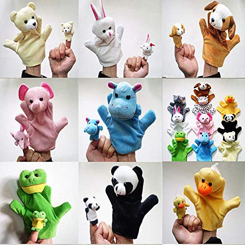 Best Quality - Puppets - Baby Kids Child Doll Hand Puppets Panda dog Bear rabbit cat Cute animal Family Cloth Doll Lovely Animal Plush Hand Puppets - by HIGHUP - 1 PCs from HIGHUP