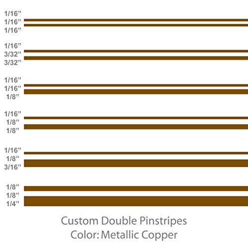 Double Pinstripes (Metallic Copper) 1/8