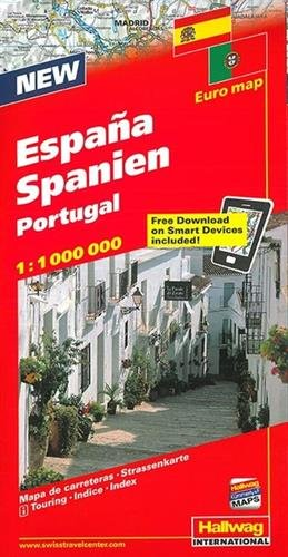 Hallwag Straßenkarten, Spanien, Portugal (Hallwag Strassenkarten)