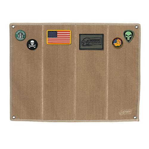 VooDoo Tactical 07-0068007000 Morale Patch Board with Brush Fabric, Coyote
