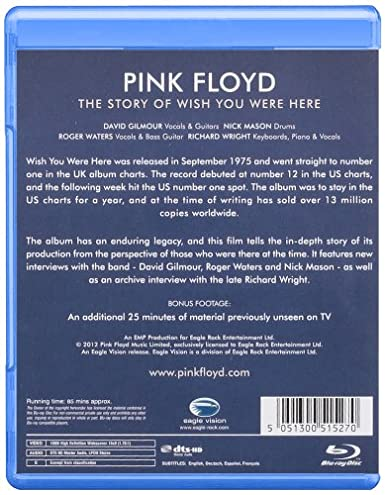 The Story Of Wish You Were Here [Blu-ray]: Amazon.es: Pink Floyd ...
