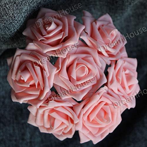 FidgetGear 50 Rosas Artificiales para Boda, Flores de Novia, Mesa ...