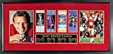 49ers super bowl tickets - SF 49ers Joe Montana Autographed Four-Time Super Bowl Champion 8x10 Photo Display w/ Tickets (w/ Deluxe Super Bowl Scores Plate) Framed