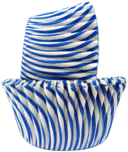 Regency Wraps Greaseproof Baking Cups, Blue Pisa Stripe, 40-Count, Standard.]()