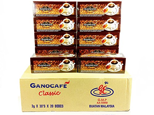 30x Gano Excel Ganocafe Black Coffee Classic No Sugar Healthy Instant Coffee + FREE Zrii Premix Rise Coffee + FREE Expedited Shipping by Gano Excel