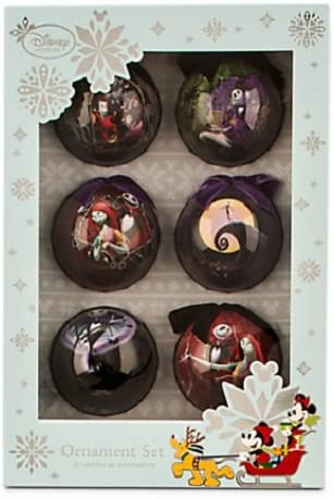TIM BURTON/'S THE NIGHTMARE BEFORE CHRISTMAS TREE TOPPER BALL ORNAMENT SET NEW