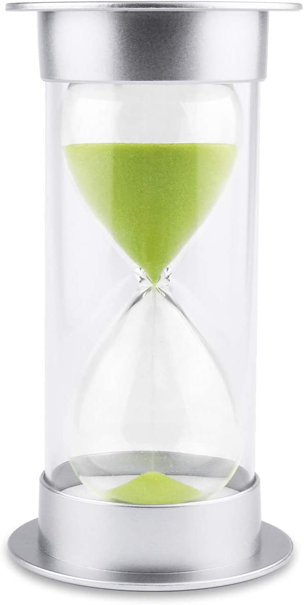 Hourglass Sand Timer 5/10/15/30/45/60 minutes Sand glass Timer for Romantic Mantel Office Desk Book Shelf Curio Cabinet Christmas Birthday Gift Kids Games Classroom Kitchen Home Dec (15 min, green)