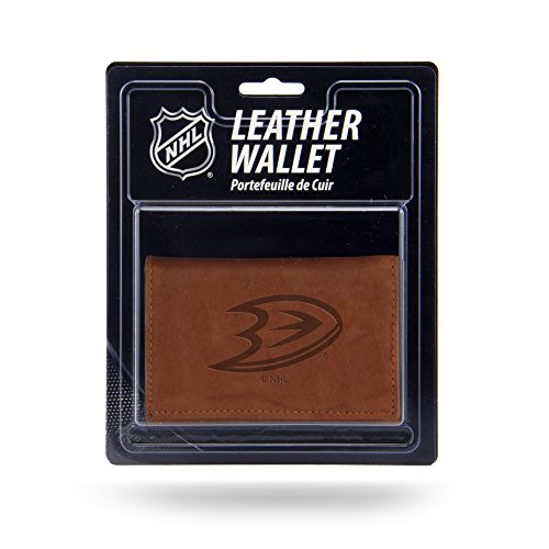 Rico Industries NHL Anaheim Ducks Leather Trifold Wallet with Man Made Interior ()