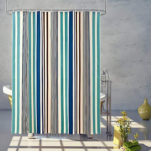 ARICHOMY Vertical Stripe Shower Curtains Bathroom Bath Fabric Curtain Waterproof Colorful (Vertical Strip)