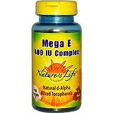 Nature's Life Mega E-400 Complex -- 400 IU - 100 Softgels - 3PC