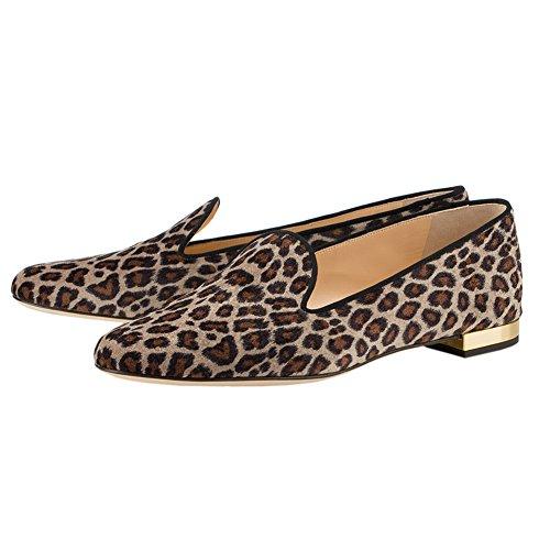 Flache Sandalen Spitz Klassische Leopard Komfortable Damen MERUMOTE 5wqXAIt