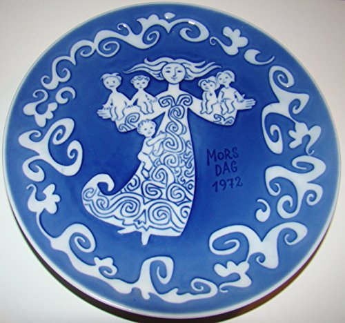 Royal Copenhagen Mothers Day Plate - 1972 Mother's Day Plate --Royal Copenhagen -- Collectible Porcelain