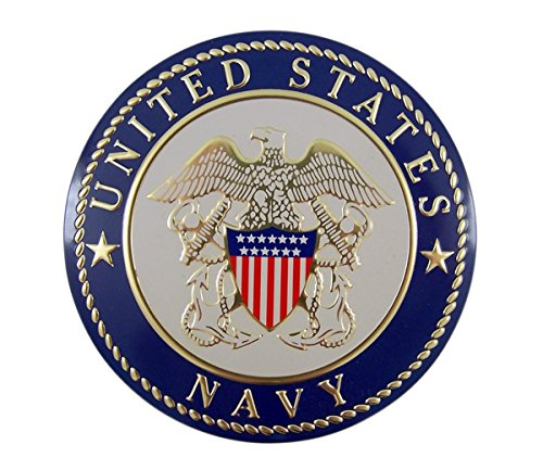 - United States Military Navy Metal Auto Decal Emblem, 4 Inch