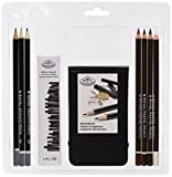 Royal Brush RART-2107 Clamshell Art Sets-Pastel Pencil with Sketchbook 12 Piece