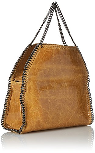 Chicca Borse 2133-Cuoio, Bolsa de Medio Lado para Mujer, Naranja (Cuoio), 39 cm