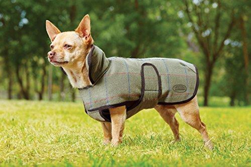 Weatherbeeta Tweed Dog Coat Olive - Tweed Shops