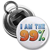 I AM THE 99% OWS Occupy Wall Street Protest 2.25 inch Button Style Bottle Opener with Key Ring