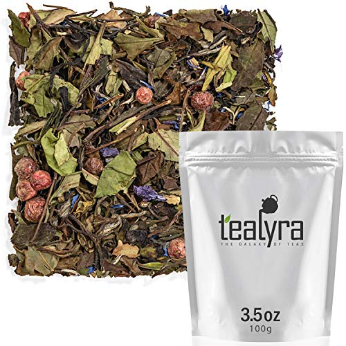 Tealyra - White Champagne - White Loose Leaf Tea - High level of Antioxidants - Natural - Healthy Tea - Hot and Iced Tea - Caffeine Level Low - 100g (3.5-ounce)