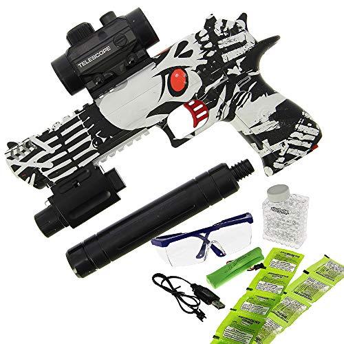 GelSoft Electric Eagle Water Gel Ammo Toy Gun Water Pistol Outdoor Shooting Game Soft Crystal Bullet Toy Gun for Children Kids Gift ()
