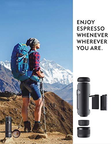 51VgNPDBAsL CONQUECO Tragbare Espressomaschine reise Siebtraeger Automatische Kaffeekapselmaschine Ein-Knopf-Bedienung BPA-frei für…