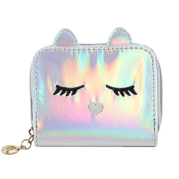 Amazon.com: Wallets Zipper,Fashion Women Cat Leather Zipper ...