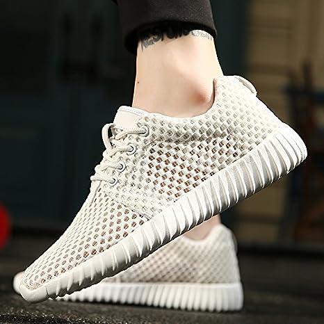 CWJDTXD Zapatillas de verano Zapatos de marea de verano zapatos casuales zapatillas de deporte transpirables modelos ...