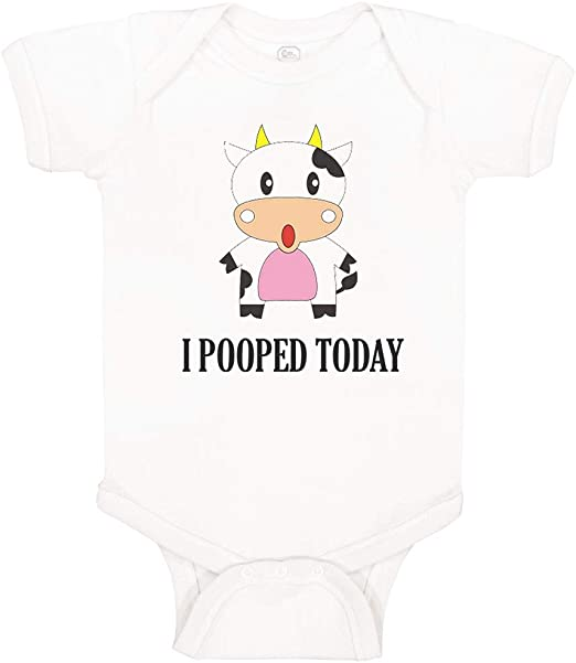 I Pooped today Baby Bodysuit Silly Shower Gift Bodysuit Humor Cute Gift Idea
