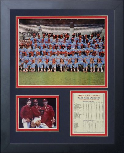 Legends Never Die 1982 St. Louis Cardinals Color Framed Photo Collage, 11x14-Inch (Cardinals Print Color Louis)