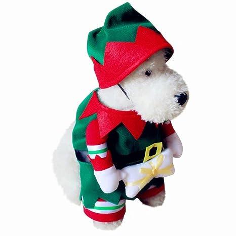 kungfu Mall - Traje de Navidad para Perros y Gatos, diseño ...