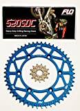 FLO MOTORSPORTS O-RING CHAIN AND SPROCKET COMBO KIT YAMAHA YZ125 / YZ250F 13T FRONT / 48 - 53 TOOTH REAR SPROCKET (48T, Blue)
