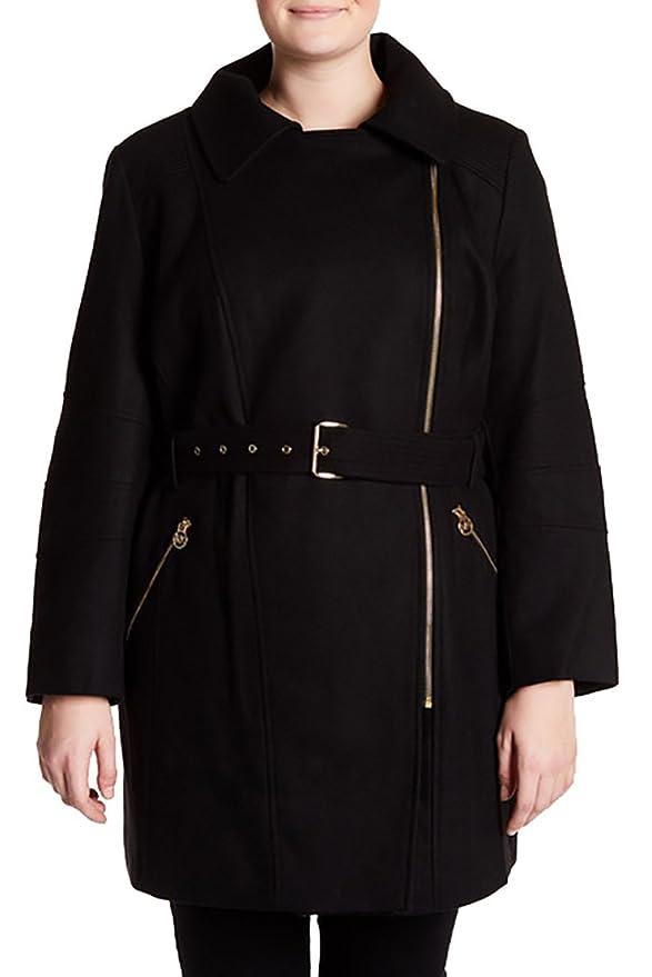 66c3e8aaacf40 Michael Kors Michael Asymmetrical Wool Blend Coat (Plus Size)