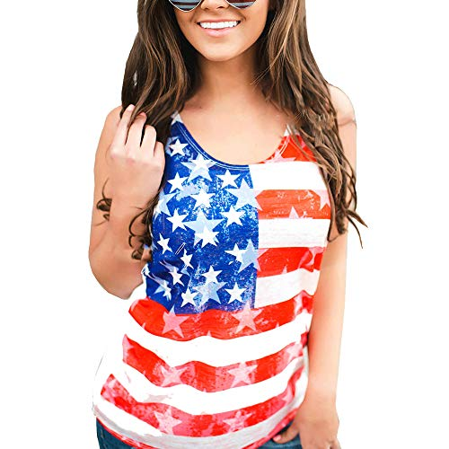 Womens Casual American Flag T Shirt 4th of July Short Sleeve Tee USA Patriotic Summer Blouse Tops