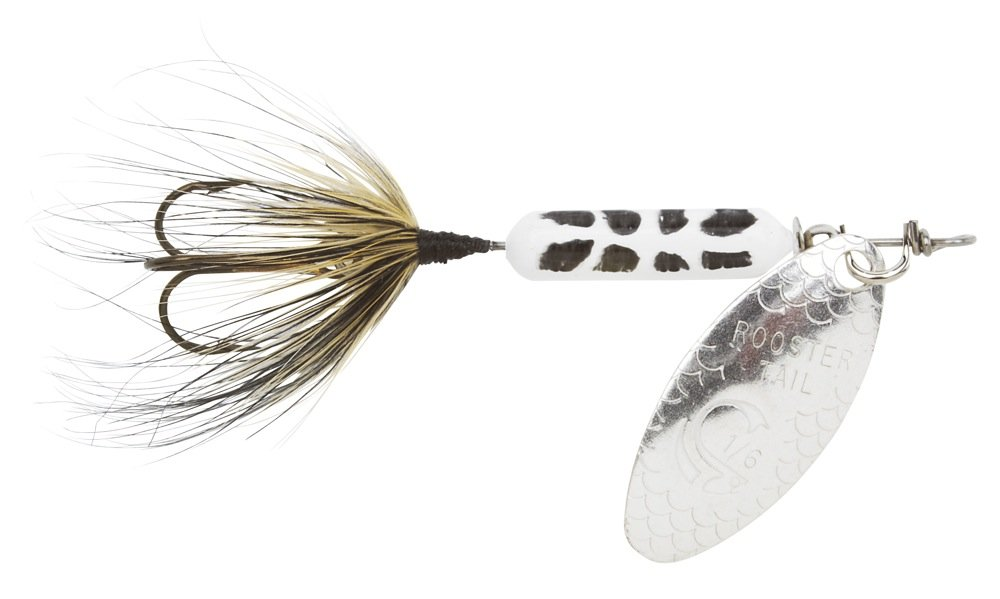 Yakima Bait 210-WHCD Wordens Original Rooster Tail Spinner Lure, Coachdog, 1/6 oz, White by Yakima Bait