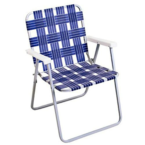 Rio Brands BY055A-0138 Woven Blue Webbing Folding Chair, Steel ()