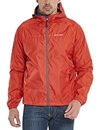 Men's Woven Lightweight Hooded Windbreaker Running Jacket