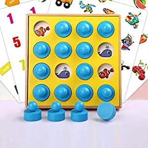 Dorime Juguetes educativos para niños 3-4-6 años interactivos Juegos de Mesa de concentración de Memoria Juguetes Viejos de formación 7 de los niños: Amazon.es: Hogar