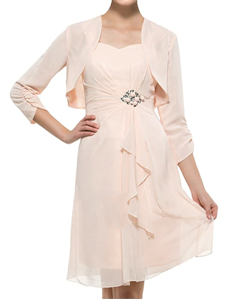 22860753ad70 ShineGown Mother of The Bride Dresses with 3 4 Sleeves A-line Plus Size  Short Gown  Amazon.co.uk  Clothing