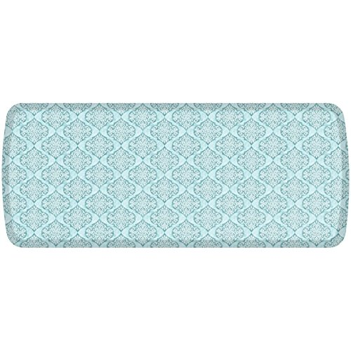 GelPro Elite Premier Anti-Fatigue Kitchen Comfort Floor Mat, 20x48'', Damask Lagoon Stain Resistant Surface with therapeutic gel and energy-return foam for health & wellness
