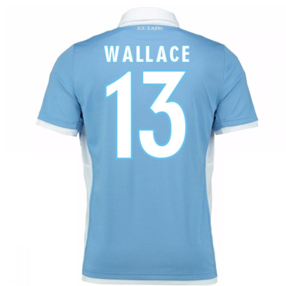 2016-2017 Lazio Authentic Home Match Shirt B01N7JILM4 Large Adults|Wallace 13 Wallace 13 Large Adults
