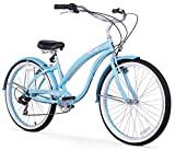 Cheap Firmstrong Bella Classic Seven Speed Beach Cruiser Bicycle, 26-Inch, Baby Blue
