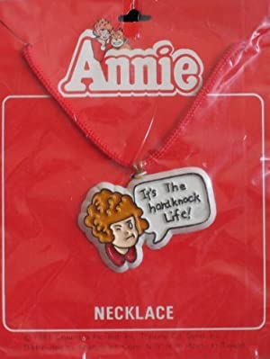 Little Orphan Annie Necklace w Pendant It's The Hard Knock Life! (1981) by Annie