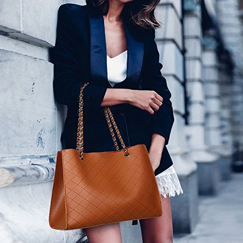 Bag Bag Bag Elegant Elegant Zllnsxkb Woman Shoulder Simple Hand Bag Laptop Lingo Brown SIqawg5