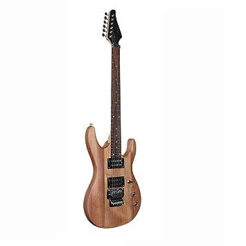 Hjyi Guitarra eléctrica, Palo de Rosa, núcleo de melocotón, Arce, Guitarra de