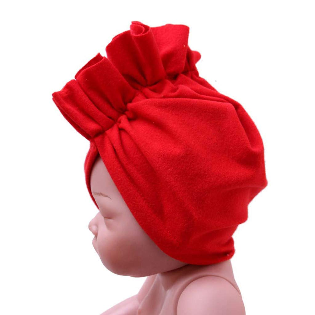 Baby Cocktail Cap-Waymine Cute Kids Infant Boy Girls Spring Summer Solid Color Beanie Hat