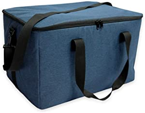 TIYASTUN 58L Extra Large Cooler Bag Insulated Collapsable, Insulated Shopping Bags for Groceries, Insulated Bags for Food Transport, Insulated Food Delivery Bag Uber Eats XXL for Camping, Delivery