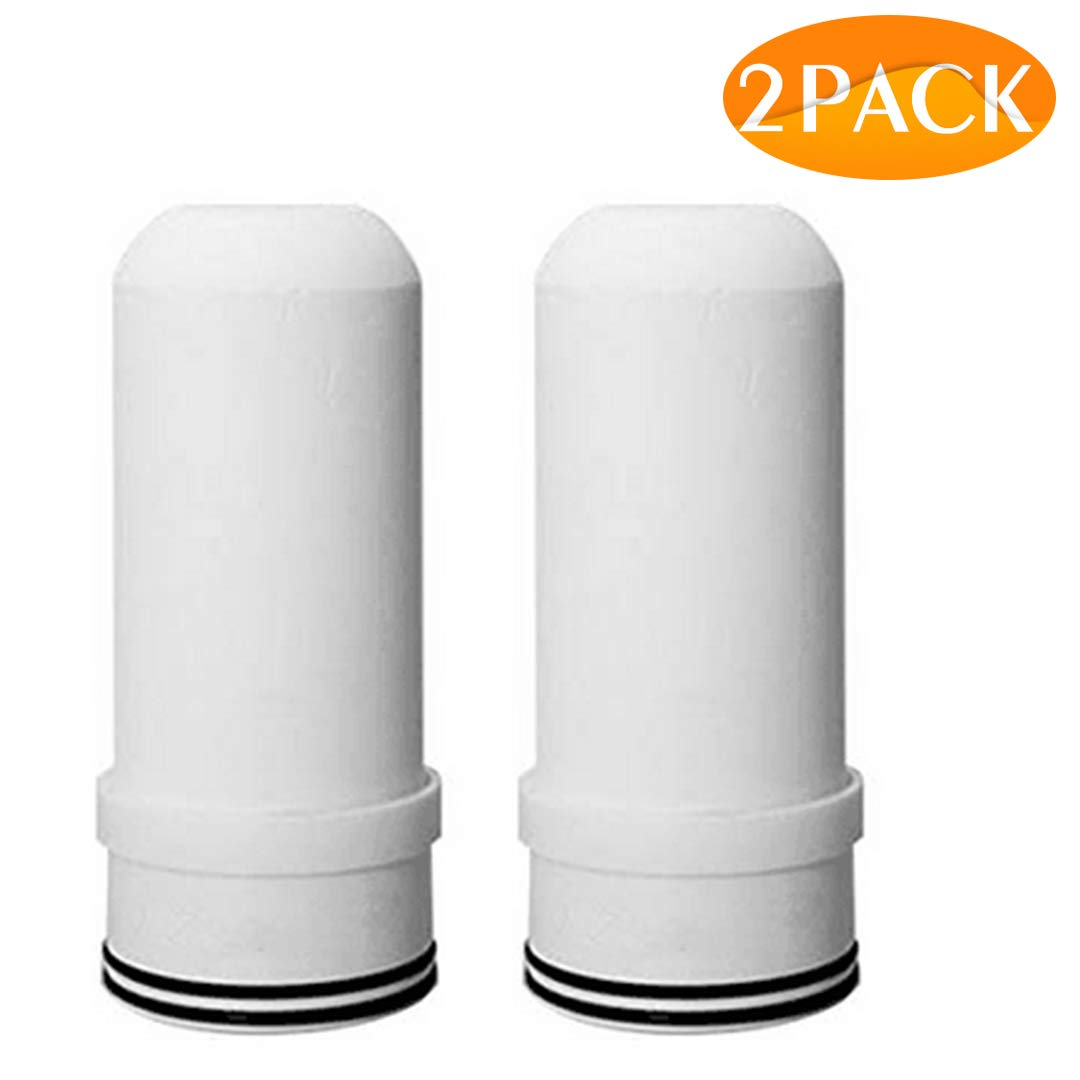 Spardar Water Filters, Faucet Water Purifier, Tap Water Filtration System for Kitchen and Bathroom, Mutil- Stage Filter Fits Stand Faucets (07 Cartridges 2Pack)