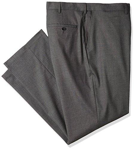 Haggar Men's Big and Tall J.m Expandable Waist Classic Fit Flat Front Pant, Medium Grey, (Big Tall Slacks)