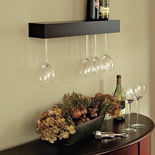 24' H Wall Cabinet (Bobnice 15 Bottle Wall Mounted Wine Rack (Black))